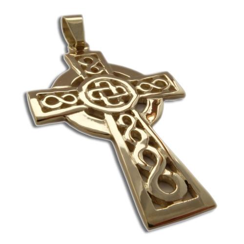 Keltský kříž zlato Au585