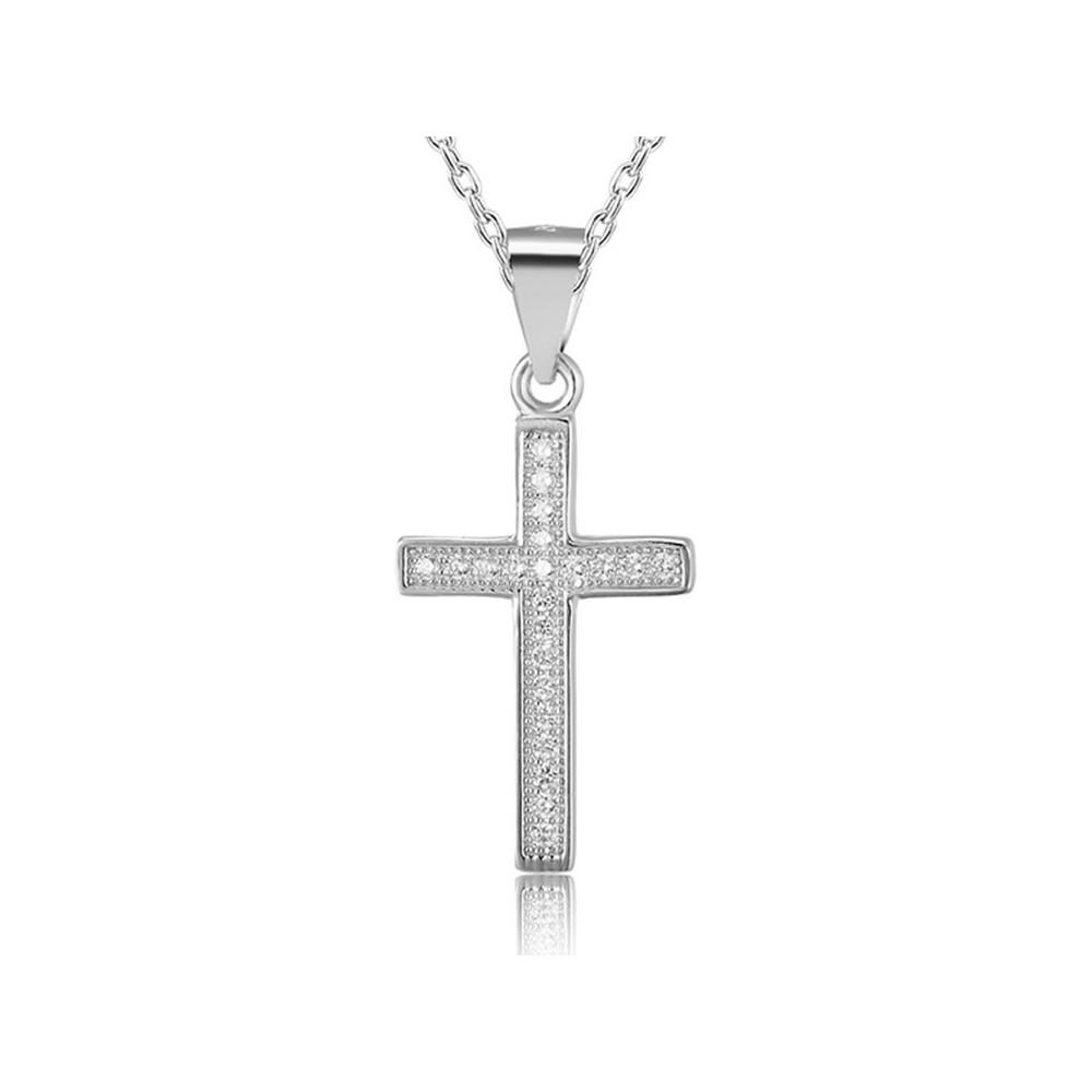 Křížek se zirkony