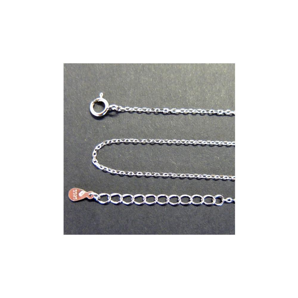 Jemný stříbrný řetízek 45 cm +3 cm