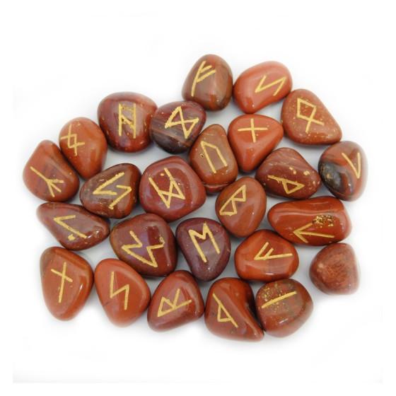 Runy červený jaspis