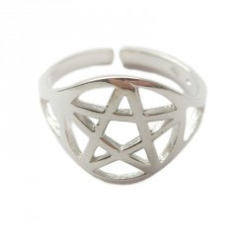 Prsten pentagram 17 mm